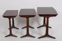 Kai Kristiansen Kai Kristiansen Set of Three Nesting Tables 1960s - 1572237