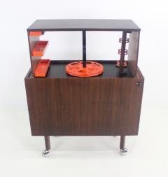Kai Kristiansen Rare Scandinavian Modern Rosewood Pop Up Bar Cabinet Designed by Kai Kristiansen - 1148224