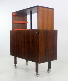 Kai Kristiansen Rare Scandinavian Modern Rosewood Pop Up Bar Cabinet Designed by Kai Kristiansen - 1148228