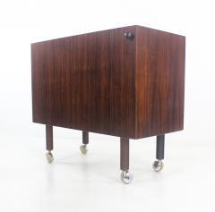 Kai Kristiansen Rare Scandinavian Modern Rosewood Pop Up Bar Cabinet Designed by Kai Kristiansen - 1148229