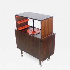 Kai Kristiansen Rare Scandinavian Modern Rosewood Pop Up Bar Cabinet Designed by Kai Kristiansen - 1148436