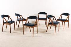 Kai Kristiansen Set of 6 Oak Dinning Chairs by Kai Kristiansen 1960s - 1249768