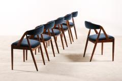 Kai Kristiansen Set of 6 Oak Dinning Chairs by Kai Kristiansen 1960s - 1249770