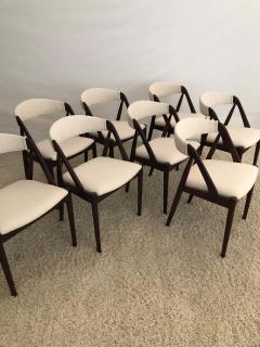 Kai Kristiansen Set of 8 Kai Kristiansen Dining Chairs for Raymor Co - 1735762