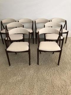 Kai Kristiansen Set of 8 Kai Kristiansen Dining Chairs for Raymor Co - 1735764