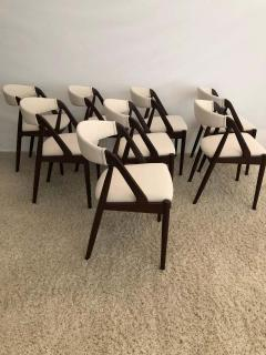 Kai Kristiansen Set of 8 Kai Kristiansen Dining Chairs for Raymor Co - 1735791