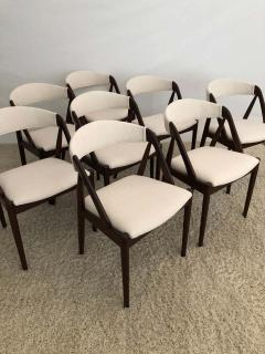 Kai Kristiansen Set of 8 Kai Kristiansen Dining Chairs for Raymor Co - 1735801
