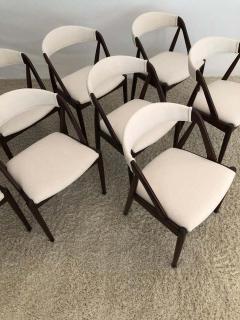 Kai Kristiansen Set of 8 Kai Kristiansen Dining Chairs for Raymor Co - 1735803