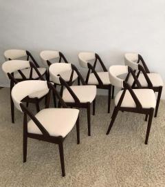 Kai Kristiansen Set of 8 Kai Kristiansen Dining Chairs for Raymor Co - 1735815