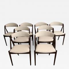 Kai Kristiansen Set of 8 Kai Kristiansen Dining Chairs for Raymor Co - 1737121