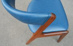 Kai Kristiansen Solid Afromosia Teak Curved Back Desk Chair Model T21 by Kai Kristiansen - 2099170