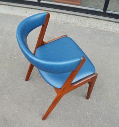 Kai Kristiansen Solid Afromosia Teak Curved Back Desk Chair Model T21 by Kai Kristiansen - 2099172