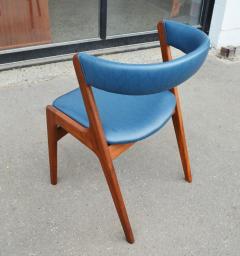 Kai Kristiansen Solid Afromosia Teak Curved Back Desk Chair Model T21 by Kai Kristiansen - 2099174