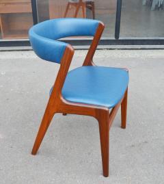 Kai Kristiansen Solid Afromosia Teak Curved Back Desk Chair Model T21 by Kai Kristiansen - 2099176