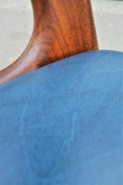 Kai Kristiansen Solid Afromosia Teak Curved Back Desk Chair Model T21 by Kai Kristiansen - 2099177