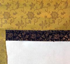 Kangetsu Shitomi Japanese Ink Painting Hanging Scroll of Daruma - 1043712