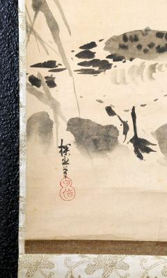 Kano Tanyu Pair of Japanese Ink Hanging Scrolls Kano Tanyu - 1663896