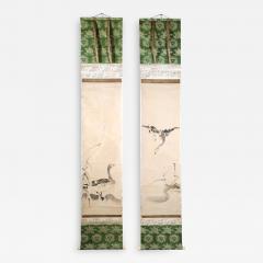 Kano Tanyu Pair of Japanese Ink Hanging Scrolls Kano Tanyu - 1666717