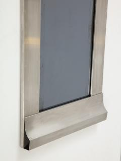 Kappa Rare stainless steel graphic mirror in the style of Kappa Italy 1970s - 1272023