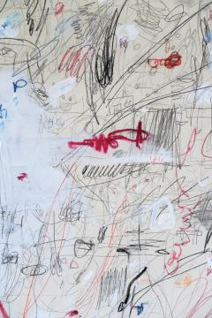 Karina Gentinetta Divine Innocence Abstract Acrylic Oil Pastels and Pencil Painting 48 x72  - 1654643