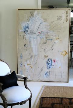 Karina Gentinetta Much Ado Oversized Acrylic Oil Pastels and Pencil Abstract Painting 7ftx5ft - 1694476