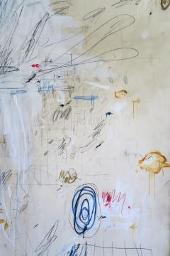 Karina Gentinetta Much Ado Oversized Acrylic Oil Pastels and Pencil Abstract Painting 7ftx5ft - 1694477