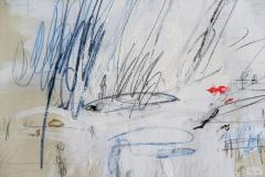Karina Gentinetta Much Ado Oversized Acrylic Oil Pastels and Pencil Abstract Painting 7ftx5ft - 1694481