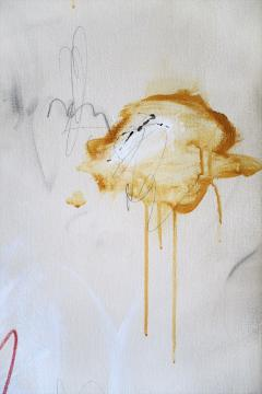 Karina Gentinetta Much Ado Oversized Acrylic Oil Pastels and Pencil Abstract Painting 7ftx5ft - 1694483