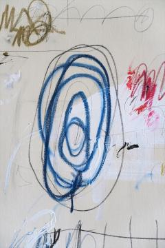 Karina Gentinetta Much Ado Oversized Acrylic Oil Pastels and Pencil Abstract Painting 7ftx5ft - 1694484