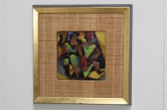 Karl Drerup 1950s Karl Drerup Enamel On Copper Modern Artwork - 768295
