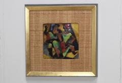 Karl Drerup 1950s Karl Drerup Enamel On Copper Modern Artwork - 768296