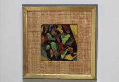Karl Drerup 1950s Karl Drerup Enamel On Copper Modern Artwork - 768297