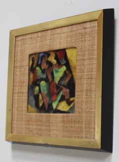 Karl Drerup 1950s Karl Drerup Enamel On Copper Modern Artwork - 768298