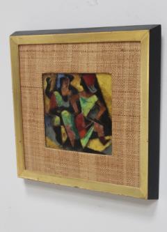 Karl Drerup 1950s Karl Drerup Enamel On Copper Modern Artwork - 768305