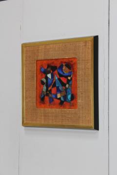 Karl Drerup Karl Drerup Enamel On Copper Abstract Art Work - 768274