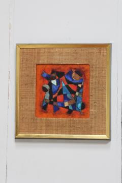 Karl Drerup Karl Drerup Enamel On Copper Abstract Art Work - 768275