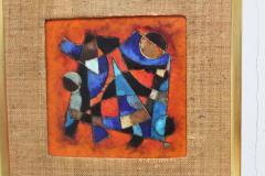Karl Drerup Karl Drerup Enamel On Copper Abstract Art Work - 768279