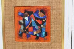 Karl Drerup Karl Drerup Enamel On Copper Abstract Art Work - 768280