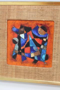 Karl Drerup Karl Drerup Enamel On Copper Abstract Art Work - 768282
