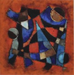 Karl Drerup Karl Drerup Enamel On Copper Abstract Art Work - 770457