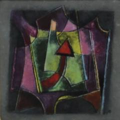 Karl Drerup Karl Drerup Enamel On Copper Modern Artwork - 770458