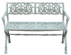 Karl Friedrich Schinkel 19th Century Neoclassical American Iron Furniture Suite of Armchairs and Sett e - 593775
