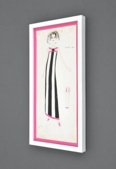 Karl Lagerfeld Original Framed Karl Lagerfeld Fashion Drawing - 65626