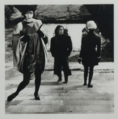 Karl Lagerfeld Original photograph of Helena Christensen on steps by Karl Lagerfeld - 1768109