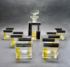 Karl Palda Art Deco Decanter Drinking Whiskey Set Karl Palda Style - 1601136