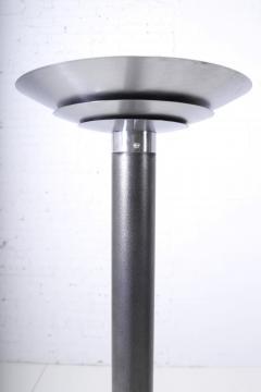 Karl Springer 1970 s Stainless Steel Oversized Torchiere Floor Lamps - 1793479
