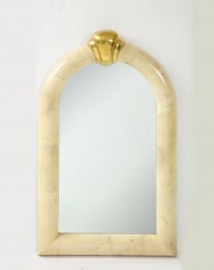 Karl Springer 1980s Karl Springer Style Goat Skin Mirror Made In Colombia - 2132513