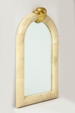 Karl Springer 1980s Karl Springer Style Goat Skin Mirror Made In Colombia - 2132518