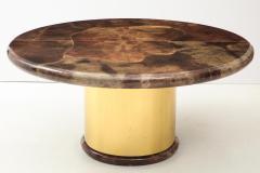Karl Springer 1980s Lacquered Goatskin Dining Table Attributed to Karl Springer - 1663855