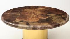 Karl Springer 1980s Lacquered Goatskin Dining Table Attributed to Karl Springer - 1663856